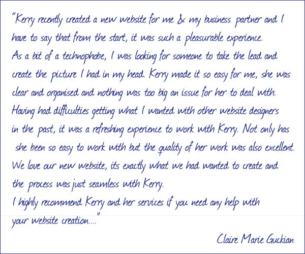 Claire Marie Guckian Testimonial